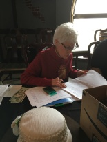 Joyce tallying up auction sales